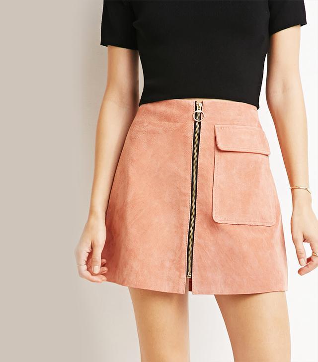 Forever 21 Genuine Suede A-Line Skirt