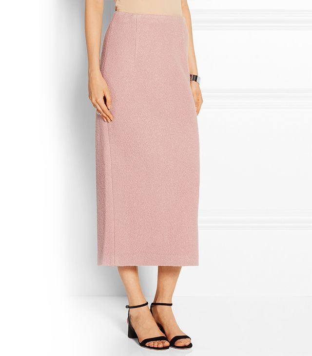 Tibi Wool-Bounclé Midi Skirt
