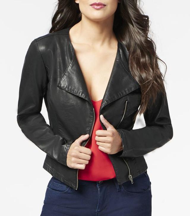 JustFab Peplum Moto Jacket
