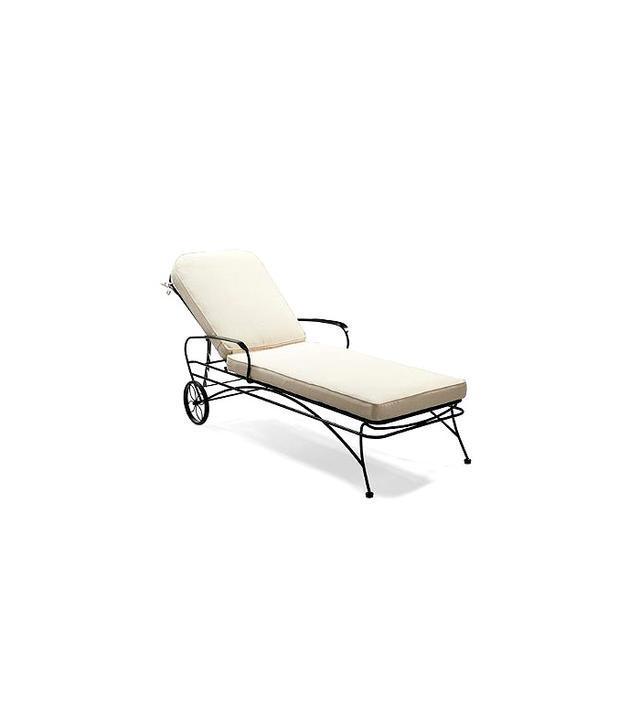 Frontgate Ellington Wrought Iron Chaise Lounge