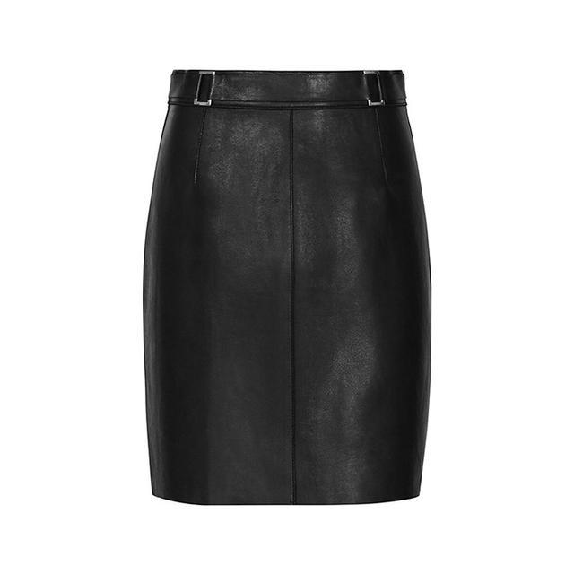 Reiss Viky Leather Mini Skirt
