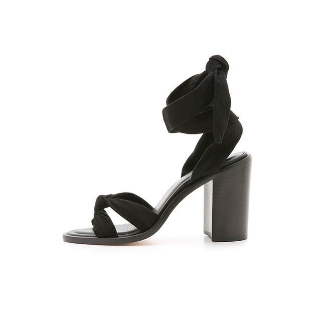 Zimmerman Loop Knot Ankle Tie Heels
