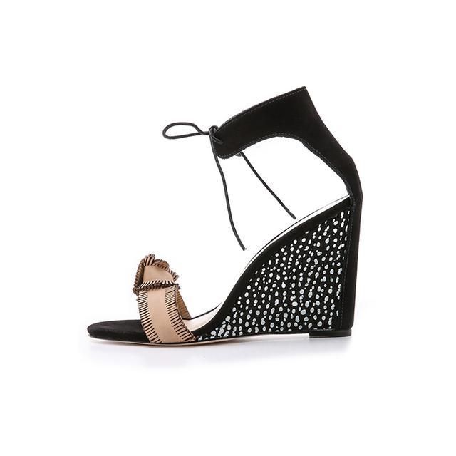 Loeffler Randall Nora Wedge Sandals