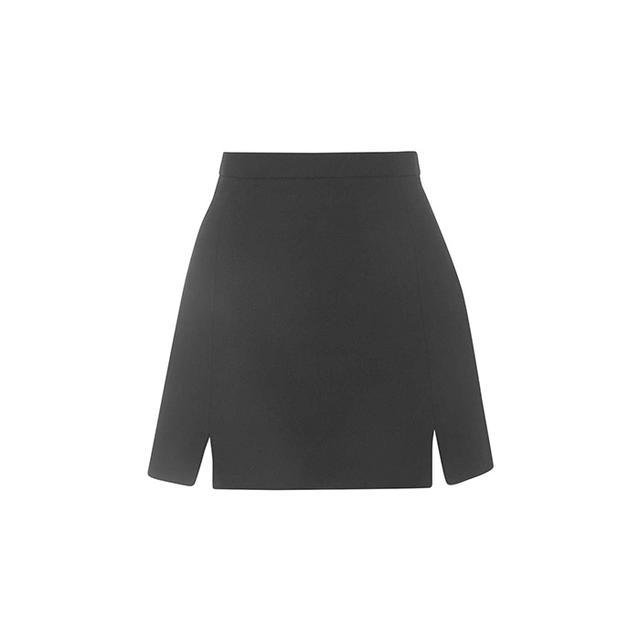 Topshop A-Line Notch Hem Skirt
