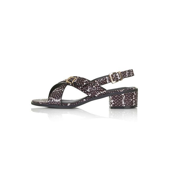Topshop Heart Cross Front Sandals