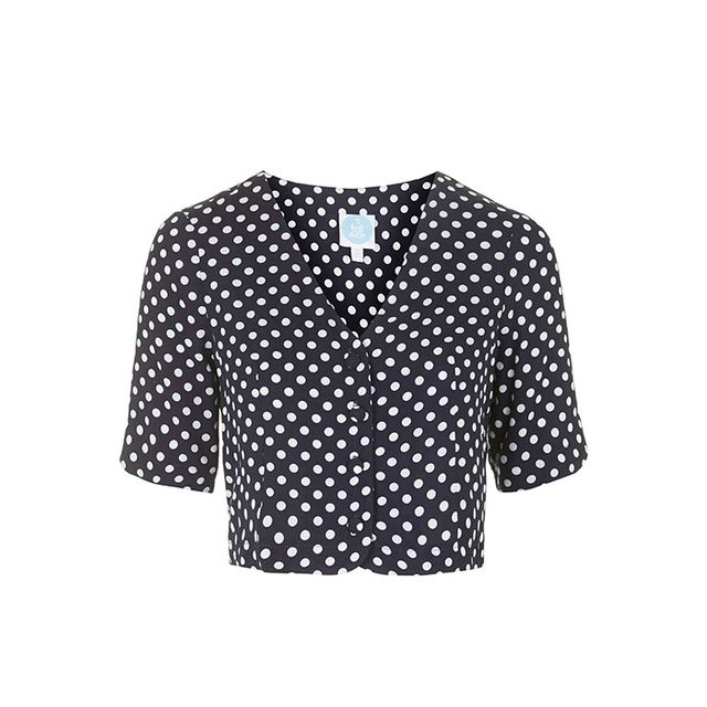 Topshop Polka Dot Blouse by Topshop Archive