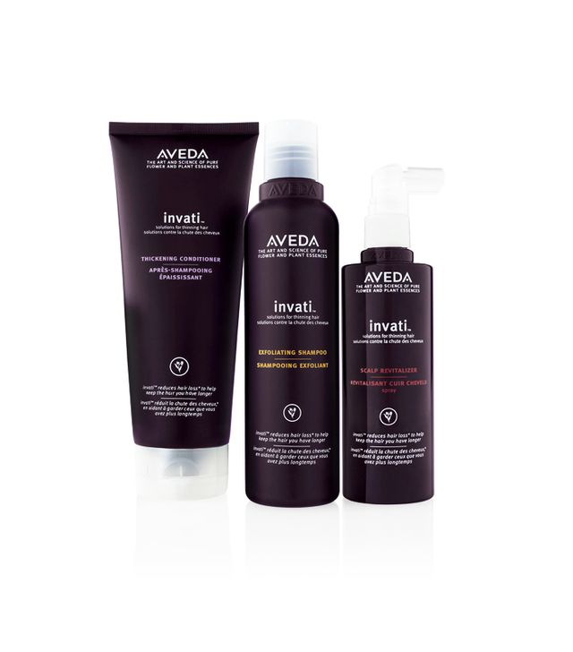 Aveda Invati Exfoliating Shampoo, Thickening Conditioner, Scalp Revitalizer