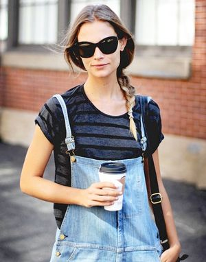 Model-Off-Duty Style: Get Barbara Di Creddo's Low-Key Overalls Look