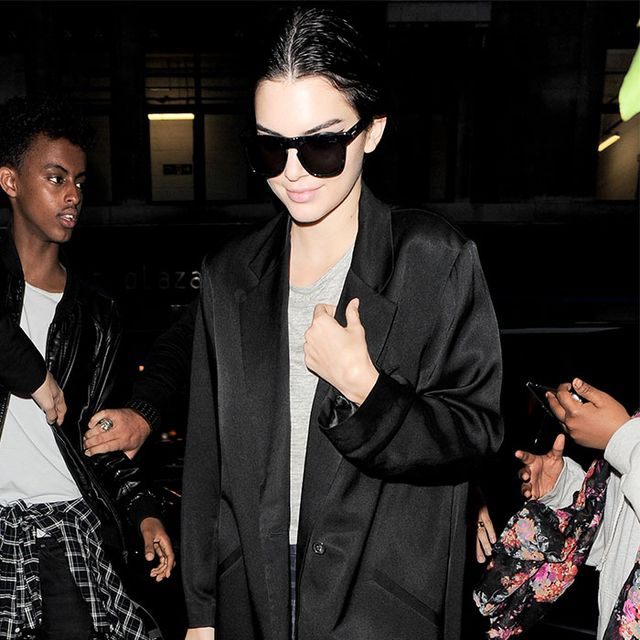 We're Obsessed With Kendall Jenner's Airport Sneakers