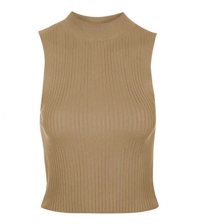 Topshop '90s Ribbed Crop Top