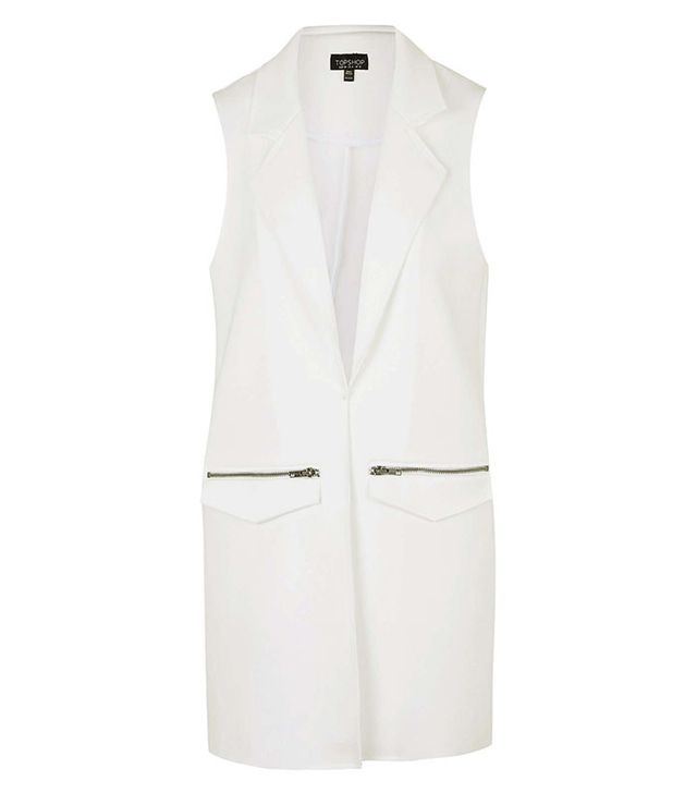 Topshop Raw Edge Sleeveless Jacket