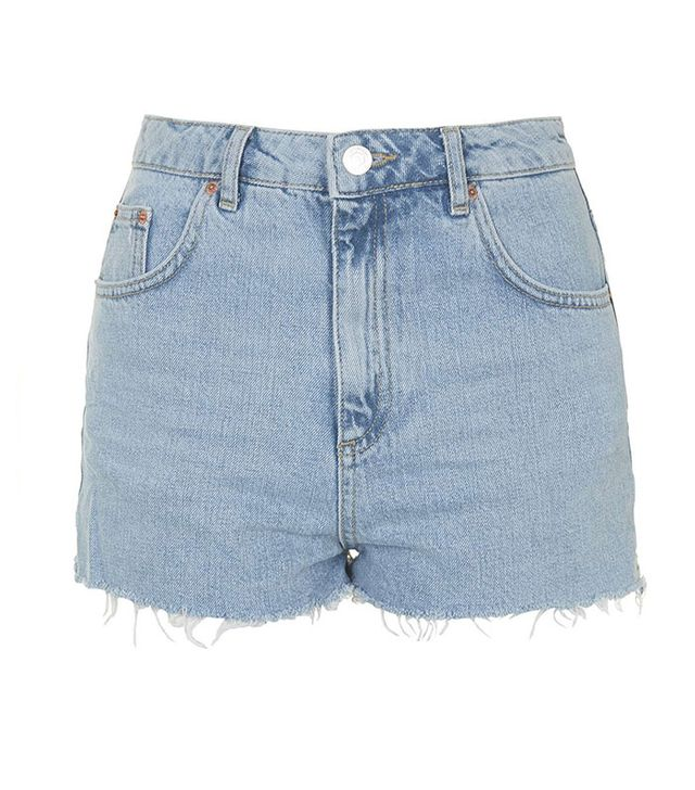 Topshop MOTO Authentic Bleached Mom Shorts