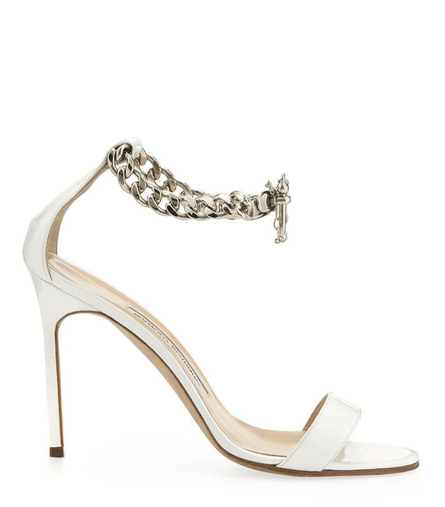 Manolo Blahnik Chaos Chain-Wrap Sandals