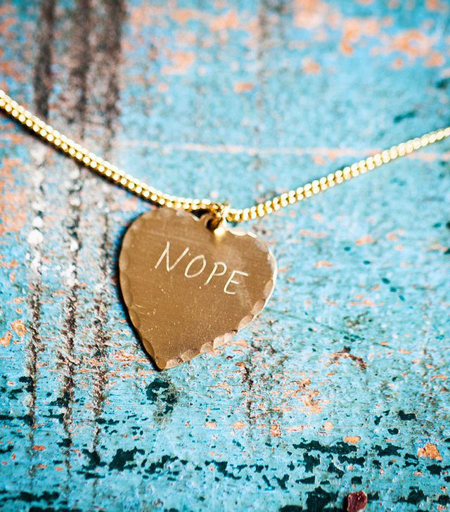 In God We Trust Nope Heart Necklace