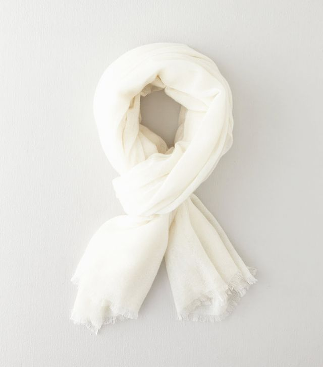 Steven Alan Super Soft Cashmere Scarf, White