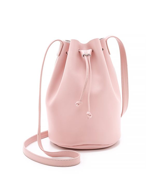 Baggu Drawstring Bucket Bag, Blush