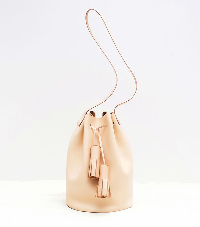 Building Block Classic Bucket Bag, Nude