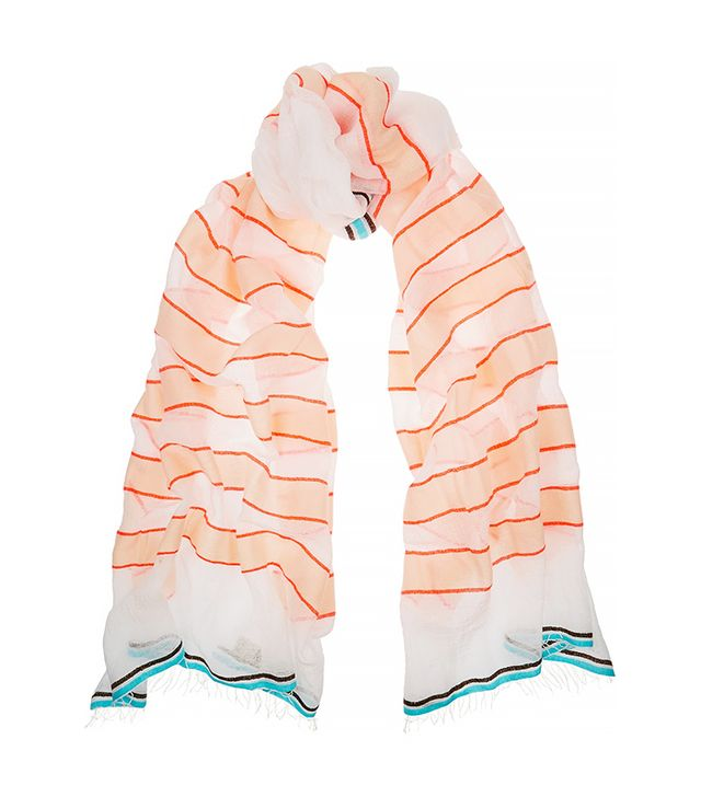LemLem Bara Striped Cotton-Blend Gauze Scarf