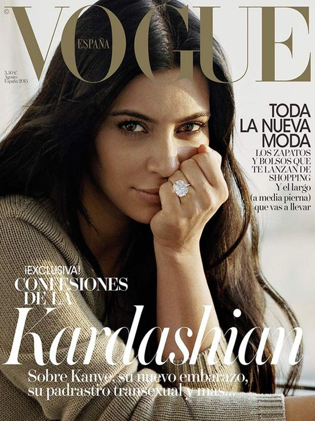 Kim Kardashian Goes Completely Makeup-Free for Spanish Vogue