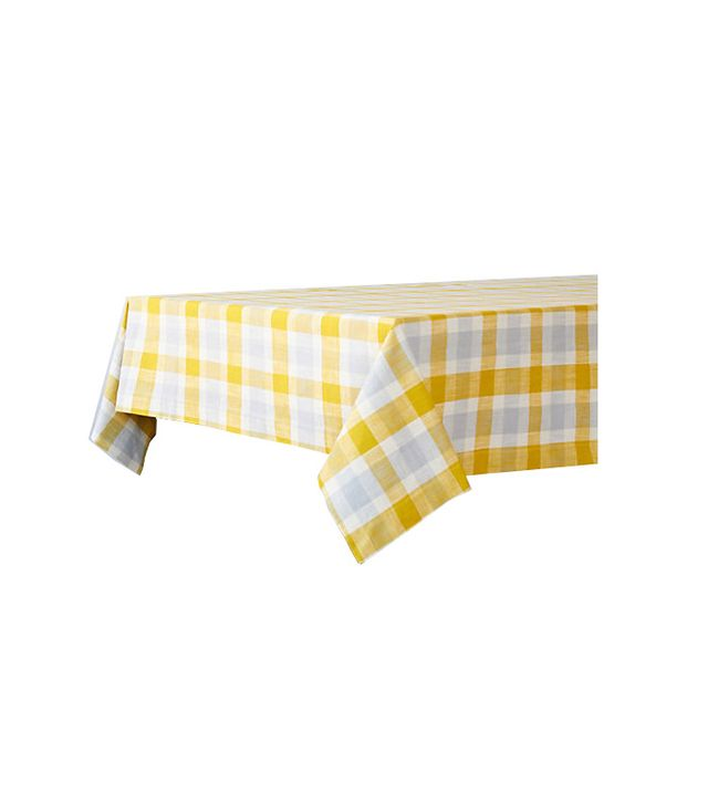 Terrain Cotton Check Tablecloth