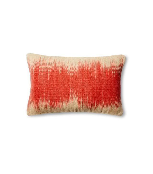 One Kings Lane Dip-Dye Wool-Blend Pillow