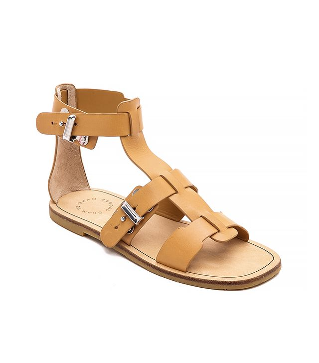 Marc by Marc Jacobs Buckled Up Flat Sandals, Tan