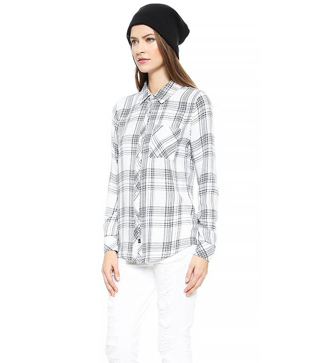 Rails Hunter Button Down Shirt, Ivory/Noir