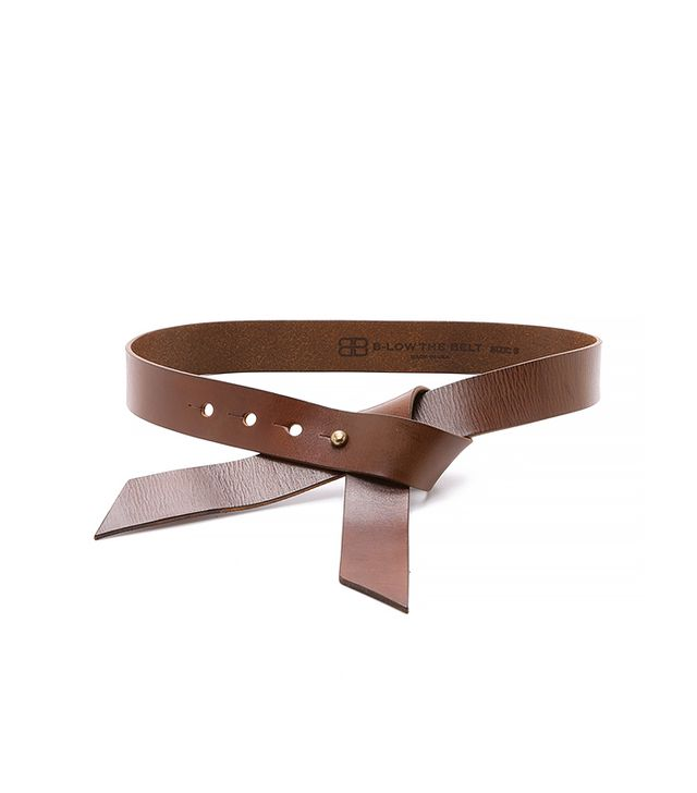 B-Low the Belt Vintage Ribbon Belt, Brown