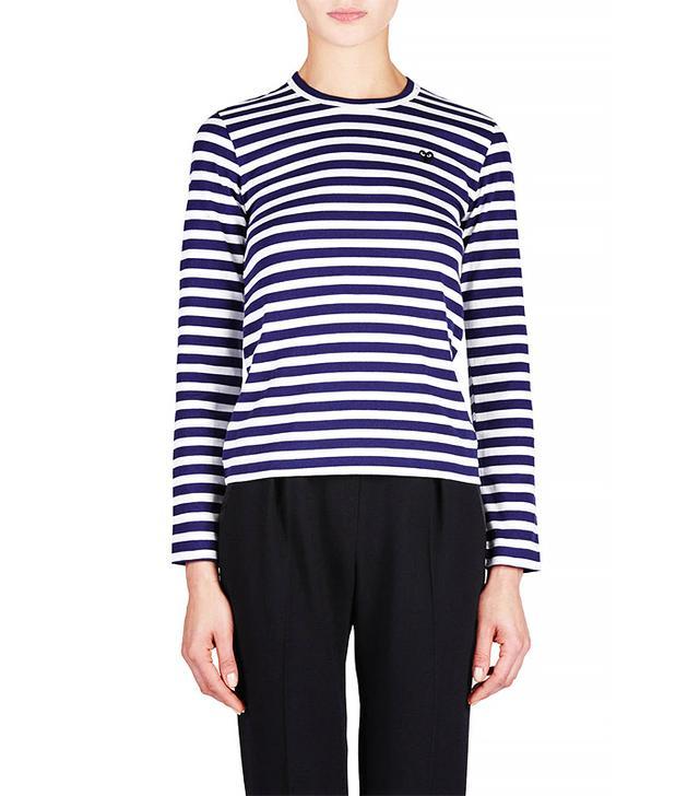 Comme des Garçons Striped T-Shirt, Navy/White