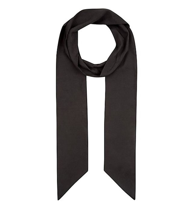 New Look Black Long Skinny Scarf