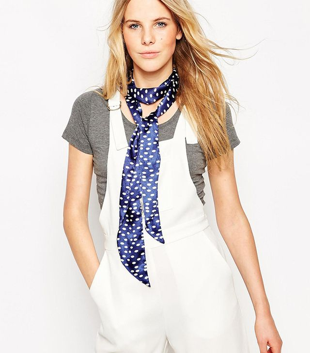 Pieces Spot Skinny Scarf