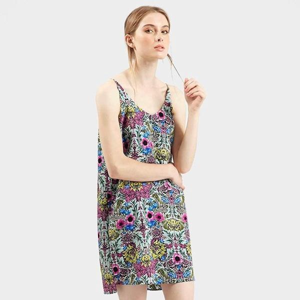 Topshop Floral Print Slipdress