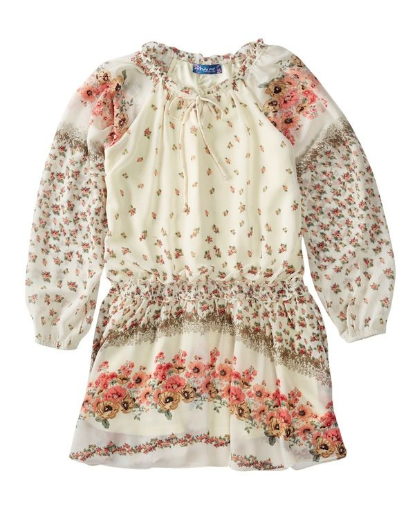 Truly Me Girl's Cassandra Drop Waist Floral Dress
