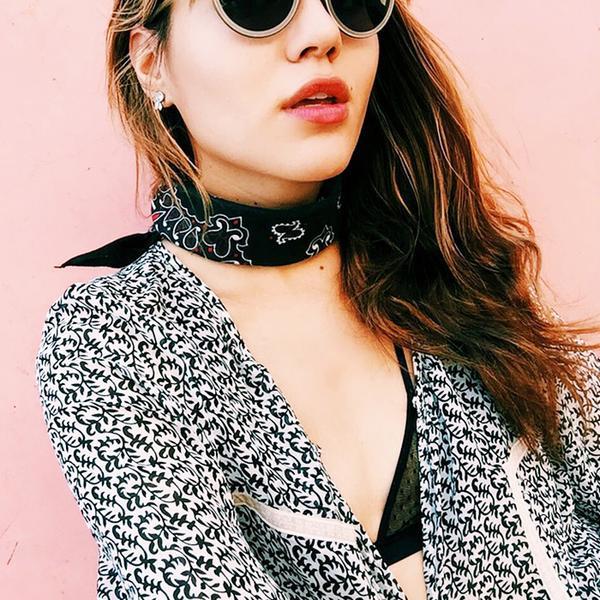 cute bralettes - printed blouse