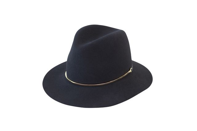 Janessa Leone Stephen Wool Felt Hat, Black