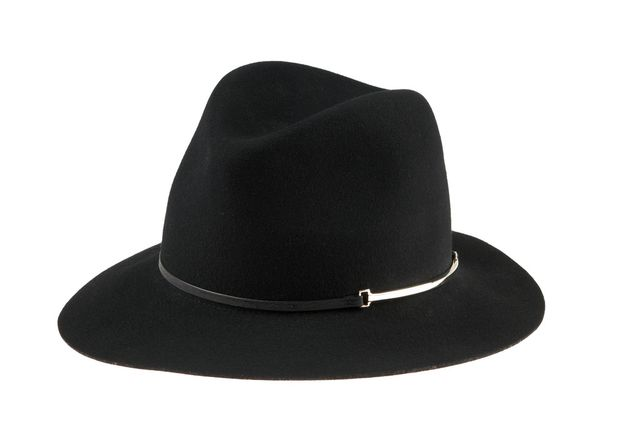 Janessa Leone Vera Wool Felt Hat, Black