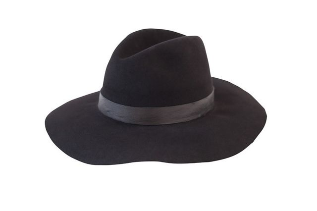 Janessa Leone Vincent Fur Felt Hat, Black