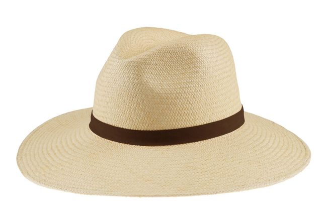 Janessa Leone Gloria Panama Straw Hat, White