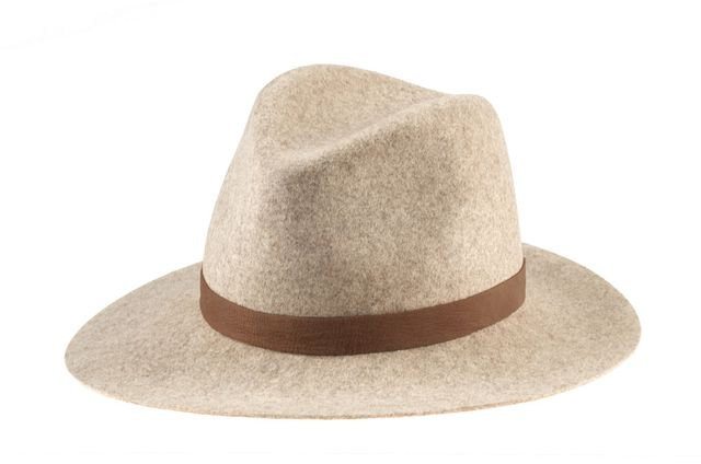 Janessa Leone Julia Wool Felt Fedora, Natural Blend