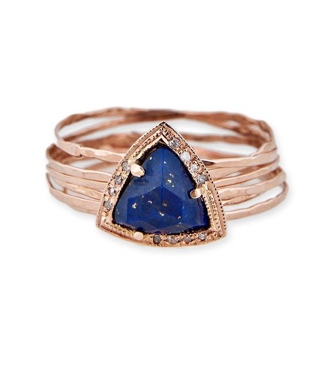 Jacquie Aiche Small Triangle Multi Waif Ring