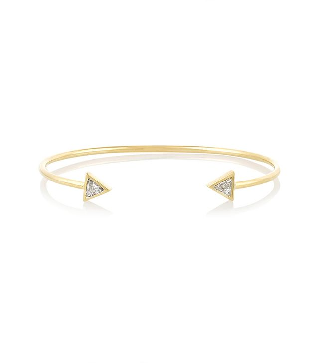 Jennifer Meyer Trillion 18-Karat Gold Diamond Cuff