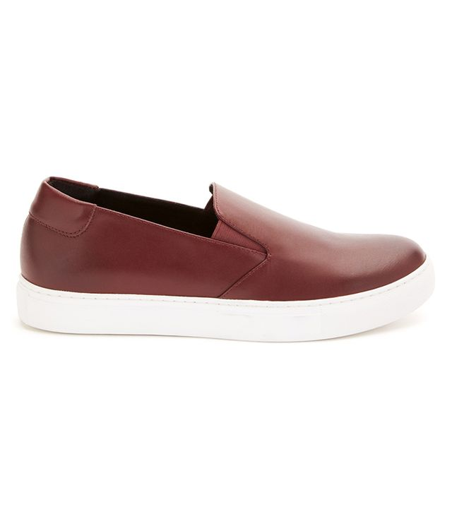 Kenneth Cole King Leather Slip-On Sneakers