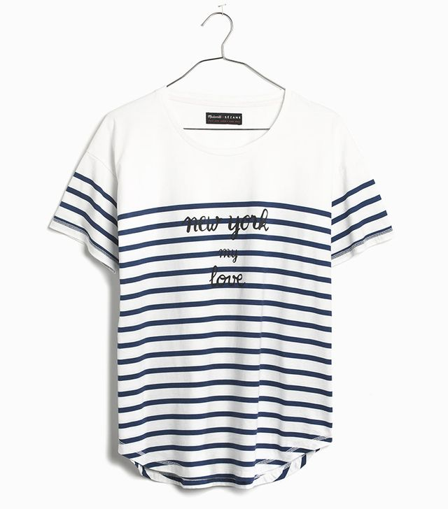 Madewell Et Sézane New York My Love Tee