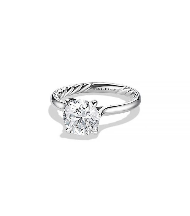 David Yurman Classic Solitaire Engagement Ring, Platinum