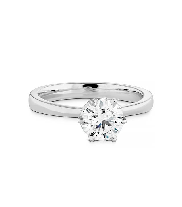 Hearts on Fire Signature 6 Prong Solitaire Engagement Ring, White Gold