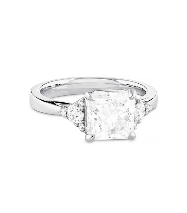 Hearts on Fire Triplicity Dream Engagement Ring, White Gold