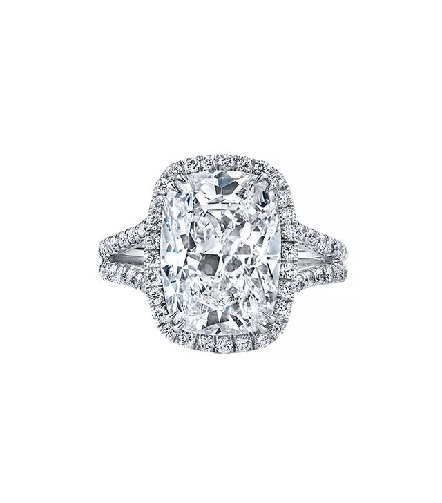 Neil Lane Cushion Shape Diamond Engagement Ring, Platinum