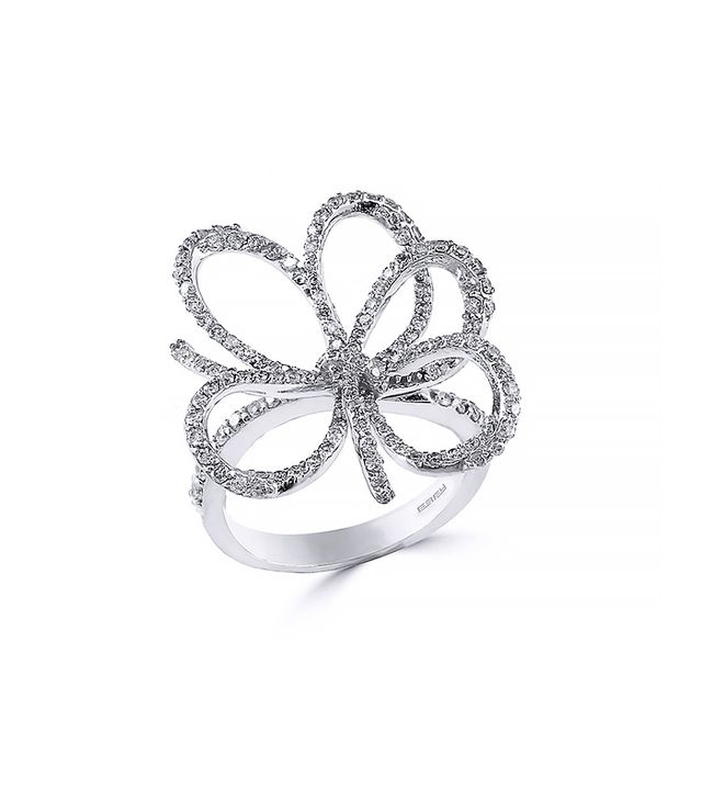 Effy Diamond Flower Ring, White Gold
