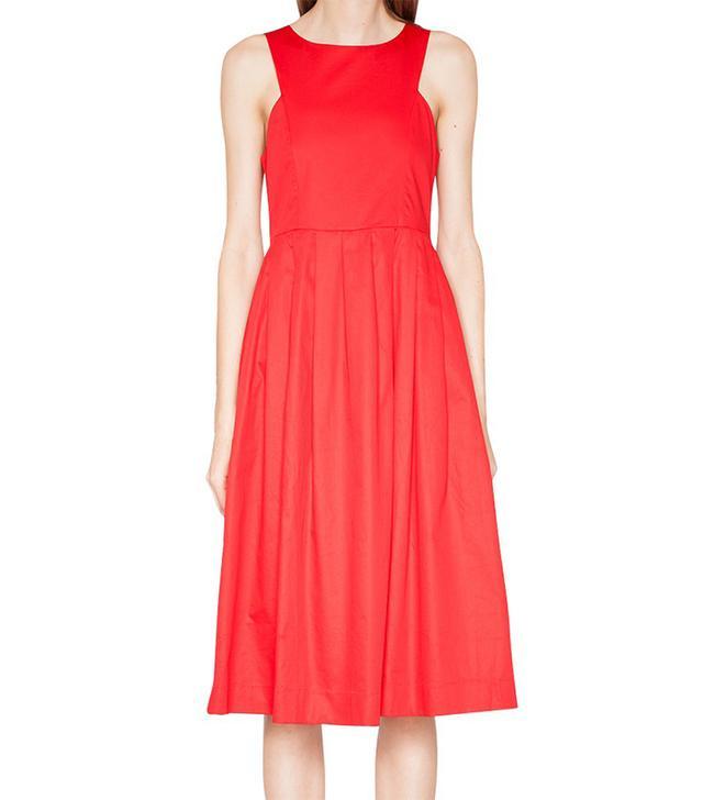 Pixie Market Red Midi Dress