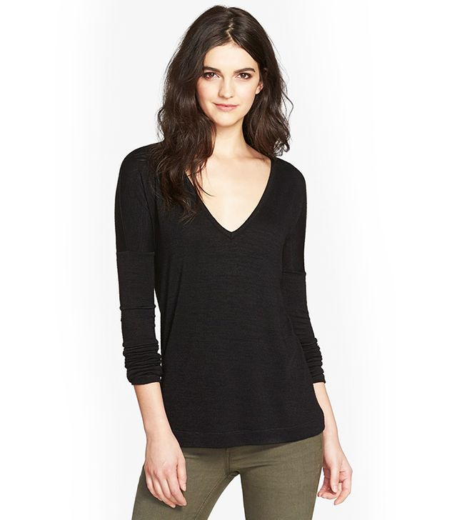 Rag & Bone/Jean Theo Long Sleeve V-Neck Pullover